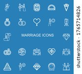 editable 22 marriage icons for... | Shutterstock .eps vector #1765714826
