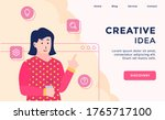 creative idea campaign for web... | Shutterstock .eps vector #1765717100