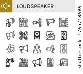 loudspeaker simple icons set.... | Shutterstock .eps vector #1765718696