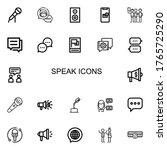 editable 22 speak icons for web ...