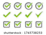 set of check mark icon on a... | Shutterstock .eps vector #1765738253