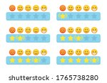 set of star rating with stars... | Shutterstock .eps vector #1765738280