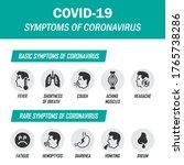 coronavirus infographic... | Shutterstock .eps vector #1765738286