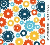 gears design over white... | Shutterstock .eps vector #176574728