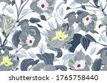 art floral vector seamless... | Shutterstock .eps vector #1765758440
