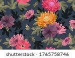 art floral vector seamless... | Shutterstock .eps vector #1765758746