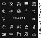 editable 22 table icons for web ... | Shutterstock .eps vector #1765758929