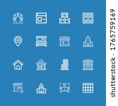 editable 16 exterior icons for... | Shutterstock .eps vector #1765759169