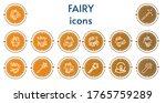 editable 14 fairy icons for web ... | Shutterstock .eps vector #1765759289