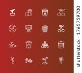 editable 16 ecology icons for... | Shutterstock .eps vector #1765759700