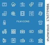 editable 22 film icons for web... | Shutterstock .eps vector #1765759886