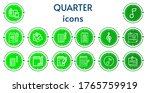 editable 14 quarter icons for... | Shutterstock .eps vector #1765759919