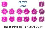 editable 14 freeze icons for... | Shutterstock .eps vector #1765759949