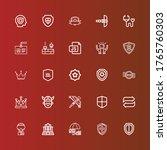 editable 25 shield icons for... | Shutterstock .eps vector #1765760303