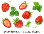 strawberries decorated with... | Shutterstock . vector #1765760393