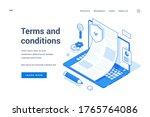 vector illustration of laptop... | Shutterstock .eps vector #1765764086