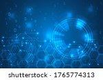 hi tech digital lines...   Shutterstock .eps vector #1765774313