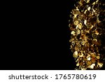 many gold coins fall down from... | Shutterstock . vector #1765780619