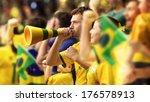 brazilian fans  soccer | Shutterstock . vector #176578913
