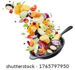 different vegetables falling... | Shutterstock . vector #1765797950