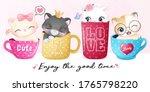 cute little kitty sitting...   Shutterstock .eps vector #1765798220