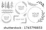set of black laurels branches.... | Shutterstock .eps vector #1765798853
