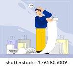 vector illustration of a man...   Shutterstock .eps vector #1765805009