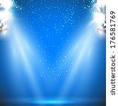 stadium reflector light with...   Shutterstock .eps vector #176581769