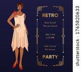 Art Deco Vintage Invitation...