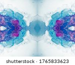 Alcohol Ink Art. Navy Blue And...
