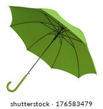 bright green umbrella tilted... | Shutterstock . vector #176583479