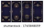 art deco vintage frames and... | Shutterstock .eps vector #1765848059