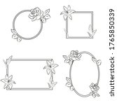 floral vector round and square... | Shutterstock .eps vector #1765850339
