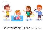 fit boys   girls kids training  ... | Shutterstock .eps vector #1765861280