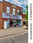 Small photo of GRAND LEDGE, MI – June 21: View of Fortino's convenience store on North Bridge Street in Grand Ledge, MI on June 21, 2020