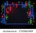 neon lights confetti...