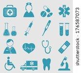 medical icons set.vector  | Shutterstock .eps vector #176587073