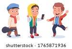 autumn   spring kids casual... | Shutterstock .eps vector #1765871936