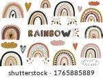 nursery cute boho rainbow... | Shutterstock .eps vector #1765885889