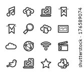 internet and wedsites icons.... | Shutterstock .eps vector #176589074