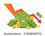 bad finance graph. loss of...   Shutterstock .eps vector #1765898570