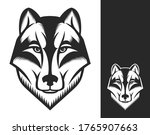 wolf head logo or icon in one... | Shutterstock .eps vector #1765907663