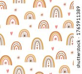 kids boho rainbow pattern with... | Shutterstock .eps vector #1765911389