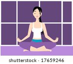 yoga vector illustration   Shutterstock .eps vector #17659246