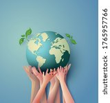 concept of ecology and... | Shutterstock .eps vector #1765957766