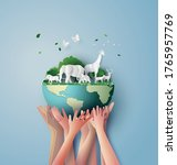 world wildlife day with the... | Shutterstock .eps vector #1765957769