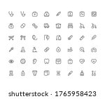isolated medical elements icon...   Shutterstock .eps vector #1765958423