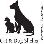 cat and dog shelter. sample for ... | Shutterstock .eps vector #1765959023