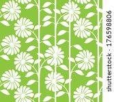 graphic white chrysanthemum...   Shutterstock . vector #176598806
