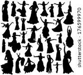 belly dancing set | Shutterstock .eps vector #176599970